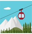 Ski Lift Gondola Snow Mountains Forest vector image vector image