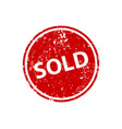 sold sign sticker stamp texture vector image vector image