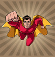 superhero coming at you ray light background vector image vector image
