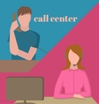 Support service call center vector image