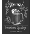 Vintage Beer Bar Poster vector image