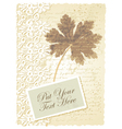 Vintage geranium leaves card