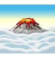 Volcano peak in the sky vector image vector image