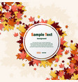 white frame with autumn leaves vector image vector image