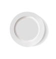 white porcelain plate on a white background vector image vector image
