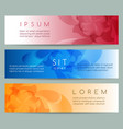 flower pattern banners set vector image