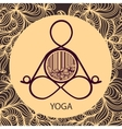 Logo template of yoga pose vector image