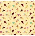 The pattern of ice cream and cherry vector image
