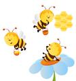 bee set vector image