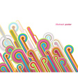 Abstract background with colorful lines - light vector image vector image