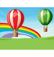 Air balloons carrying kids vector image vector image