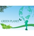 background-green planet - the picture is in the vector image vector image