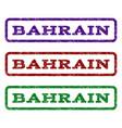bahrain watermark stamp vector image vector image