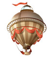 balloon retro blimp ship with flag isolated on vector image vector image