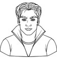black and white of a man vector image vector image