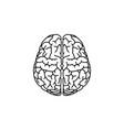 brain line icon black vector image vector image