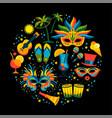 brazilian carnival flat ilustration vector image