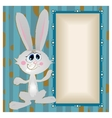 Bunny big-eyed rabbit with long ears vector image