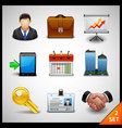business icons - set 2 vector image vector image
