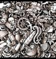cartoon doodles haiti seamless pattern vector image vector image