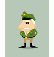 Cartoon military general vector image
