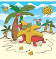 cartoon starfish relaxing on vector image vector image