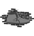 casual gray shoes on a gray brick wall background vector image vector image
