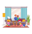 character family stay at vector image