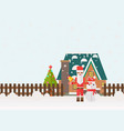 christmas and new year santa gifts at home flat vector image