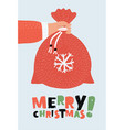 christmas bag background vector image vector image