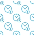 Clock money white pattern vector image