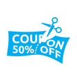coupon sale vector image