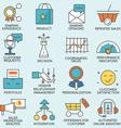 Customer relationship management - part 4 vector image vector image