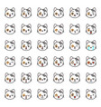 cute cat emotion face in various expession vector image vector image