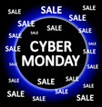 cyber monday background vector image vector image