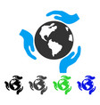 earth protection flat icon vector image