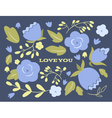Floral wedding or Valentines day card vector image vector image
