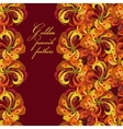 Golden orange and red peacock feathers pattern vector image vector image