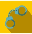 Handcuffs icon flat style vector image