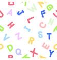 handwritten doodle english alphabets pattern vector image