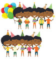happy birthday celebration vector image vector image
