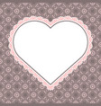 heart shaped frame for valentine card vector image