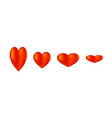 hearts icon on white vector image