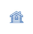 housecabinwood house line icon concept house vector image vector image