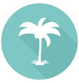 icon palm trees with a long shadow vector image vector image