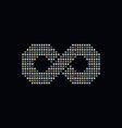 infinity circle dot logotype vector image vector image