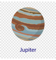 jupiter planet icon flat style vector image vector image