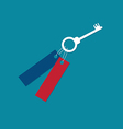 Key to contribute to the growth vector image vector image