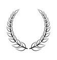 laurel symbol vector image vector image