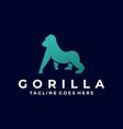 logo gorilla silhouette style vector image vector image